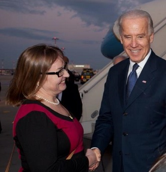 Kitty Kurth and Vice President Biden