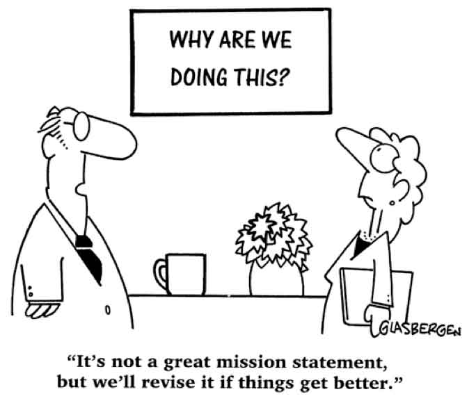 Don't use this for your mission statement!