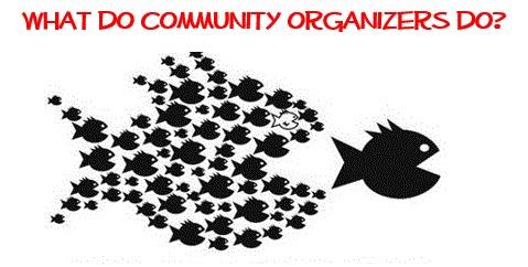 What do community organizers do?