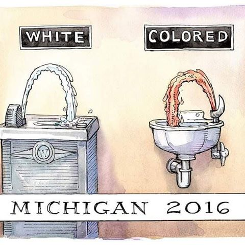 White water. Colored water.