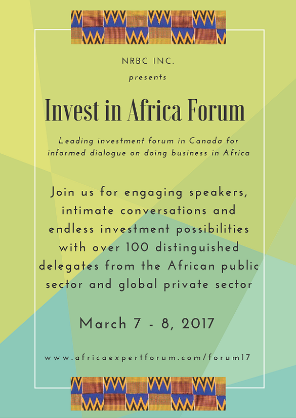 Invest in Africa Forum Poster