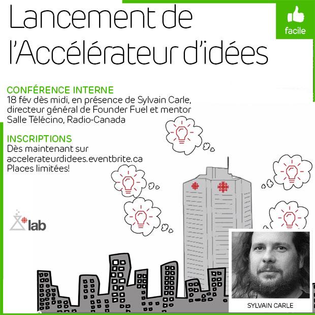 Midi Lab: lancement de l'Accélérateur d'idées de Radio-Canada