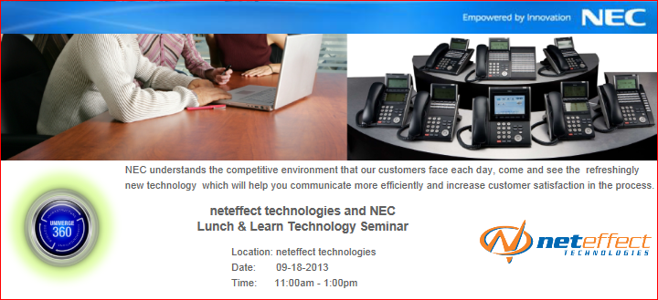 NEC Lunch and Learn Template