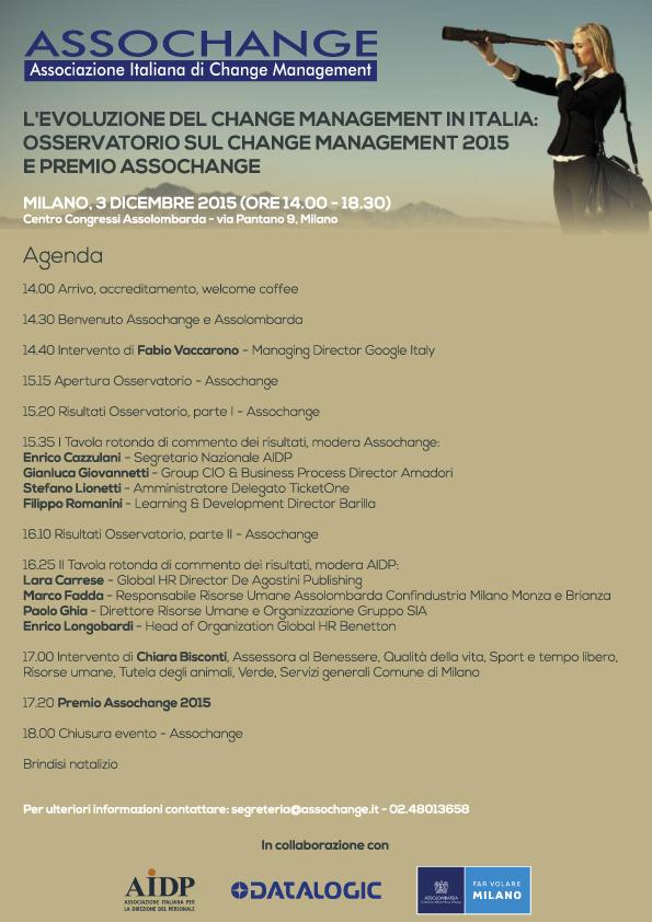 Agenda Evento 3 dicembre 2015