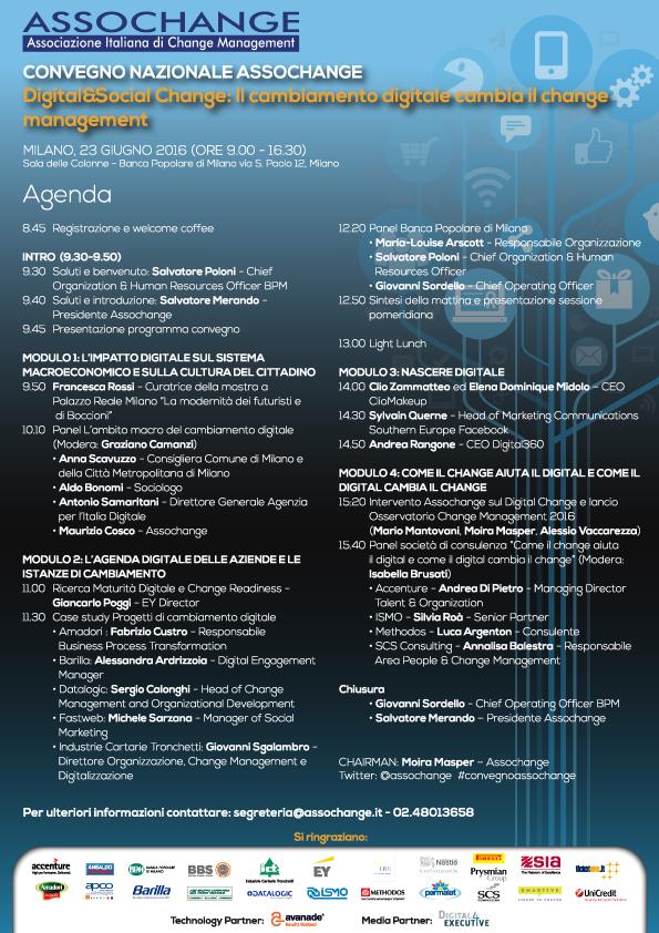 Agenda Convegno Assochange 2016