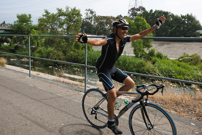 LA River Ride - No Hands!