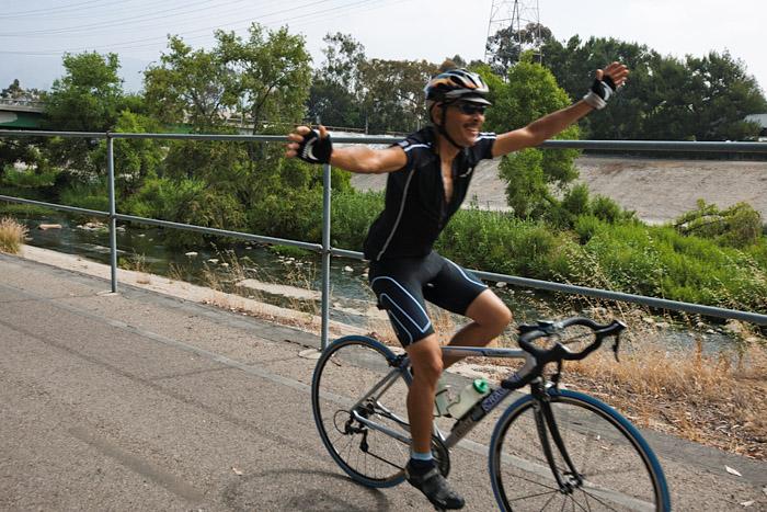 LA River Ride - No Hands!