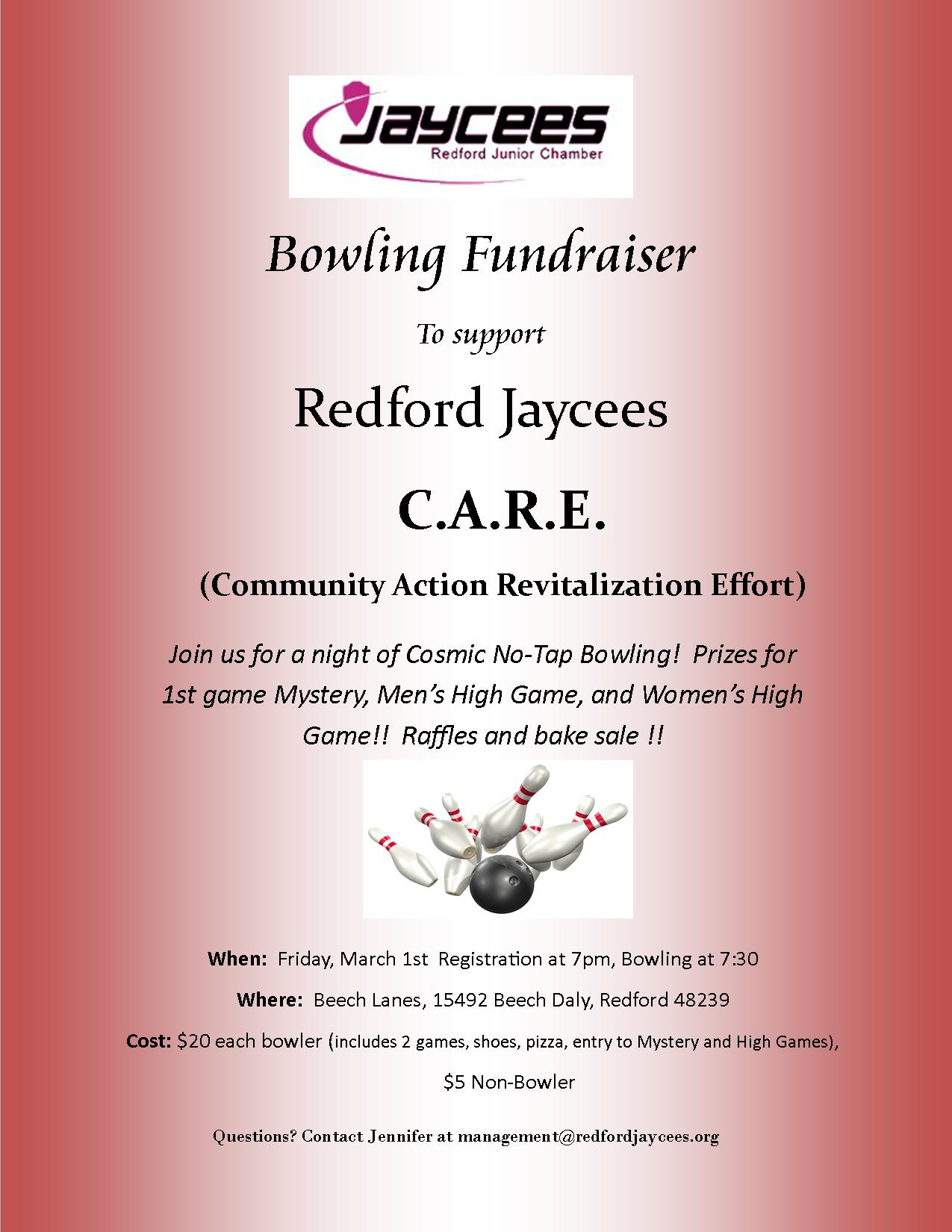 Redford Jaycee CARES Bowling Fundraiser
