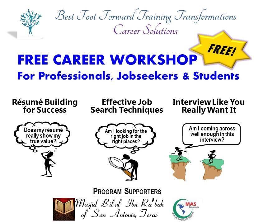Best Foot Forward Training Transformation Free Career Workshop