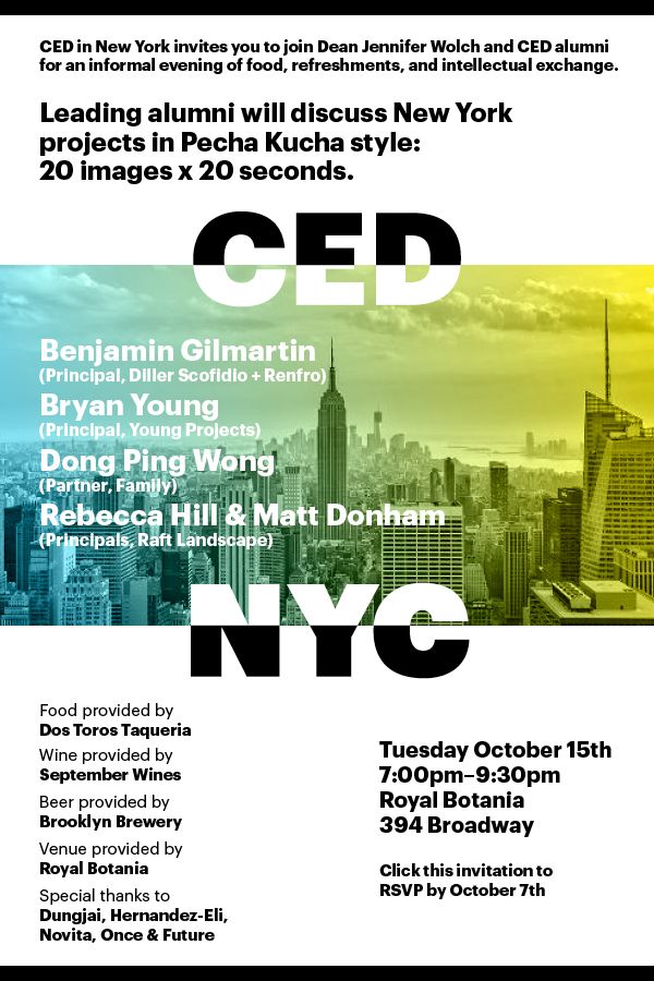 CED in New York Oct 15th Event