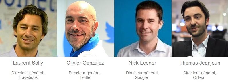 Conférence Marketing Digital Viuz avec Facebook, Google, Twitter et Criteo