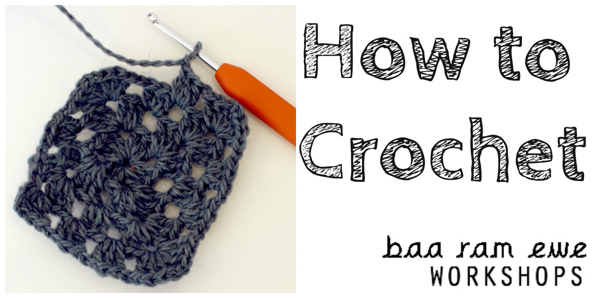 Crochet square and hook