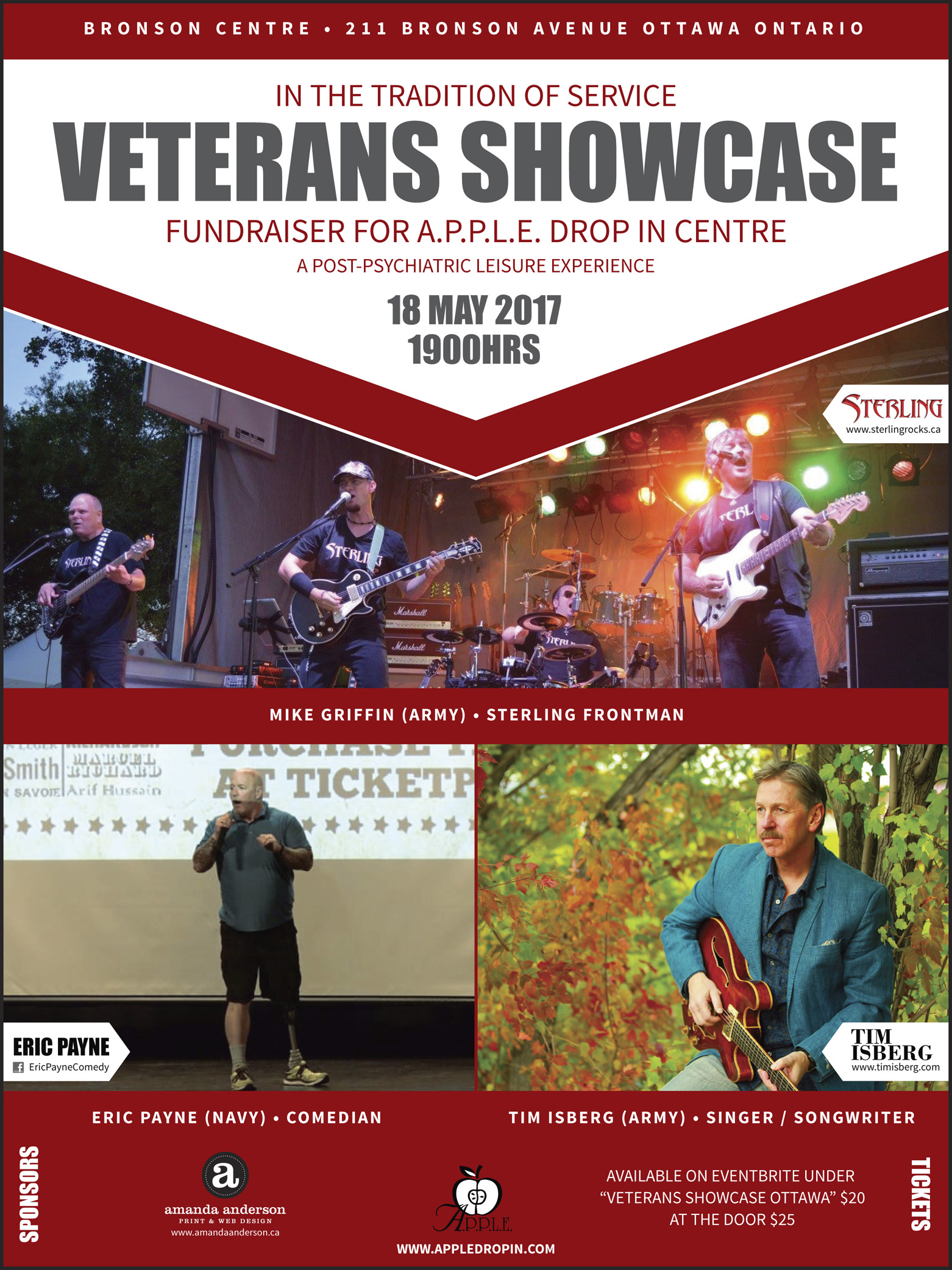 Event Poster - In The Tradition of Service Veteran's Showcase