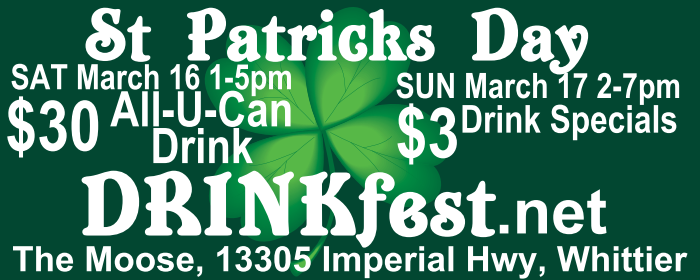 St PADDY's DRINKfest Banner
