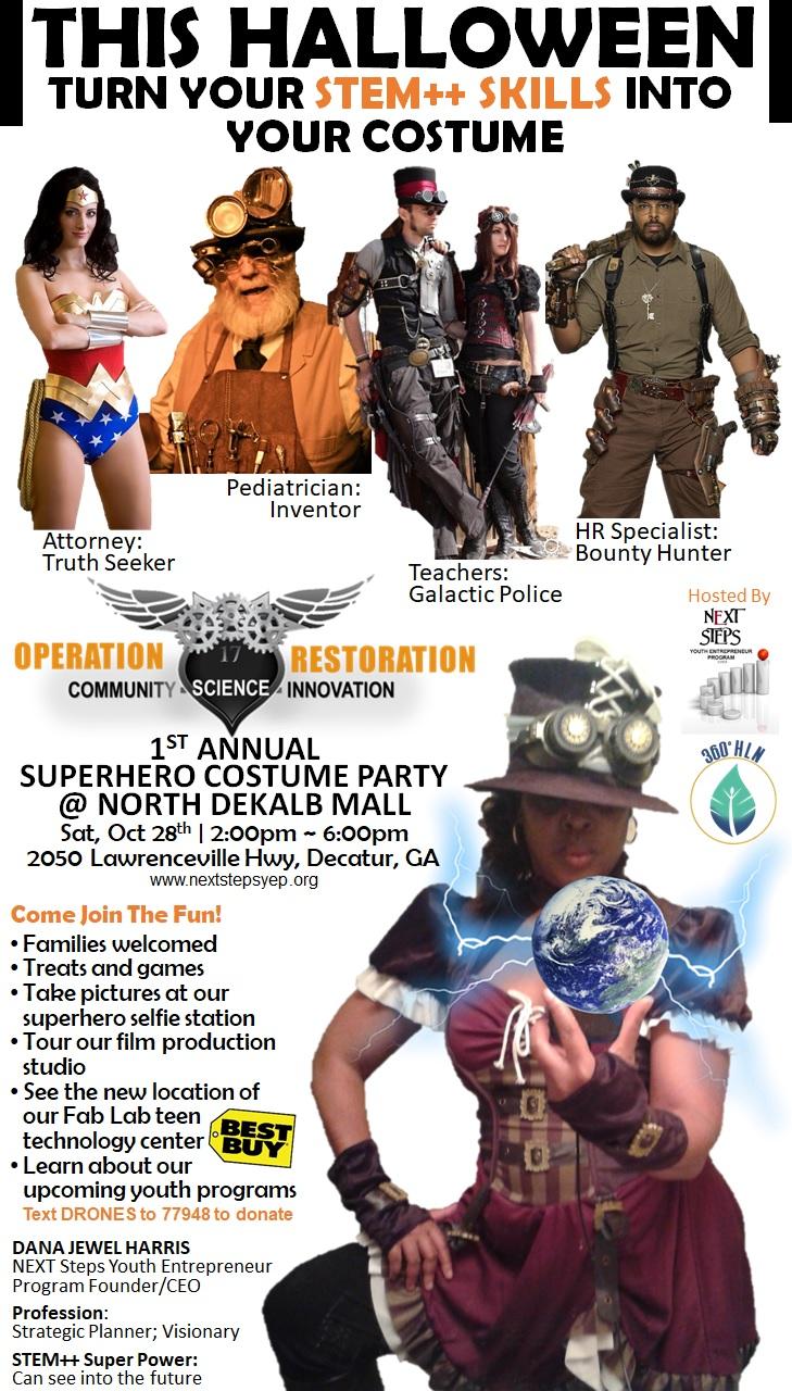 flyer - 2017 superhero costume party