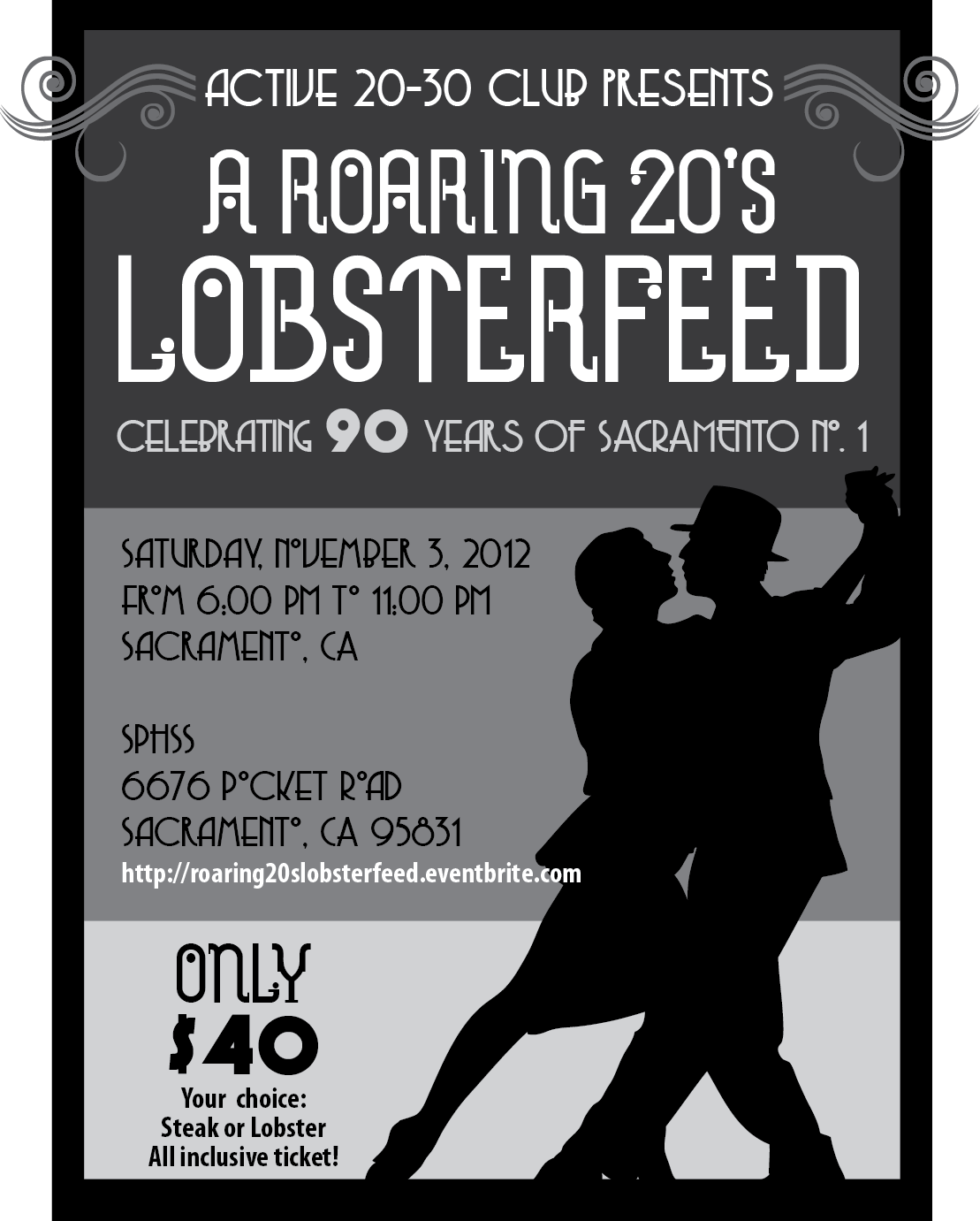 Roaring 20's Lobsterfeed POSTER