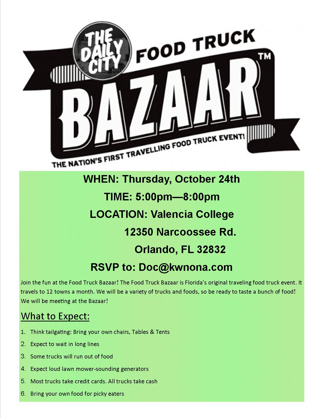 food truck bazaar lake nona