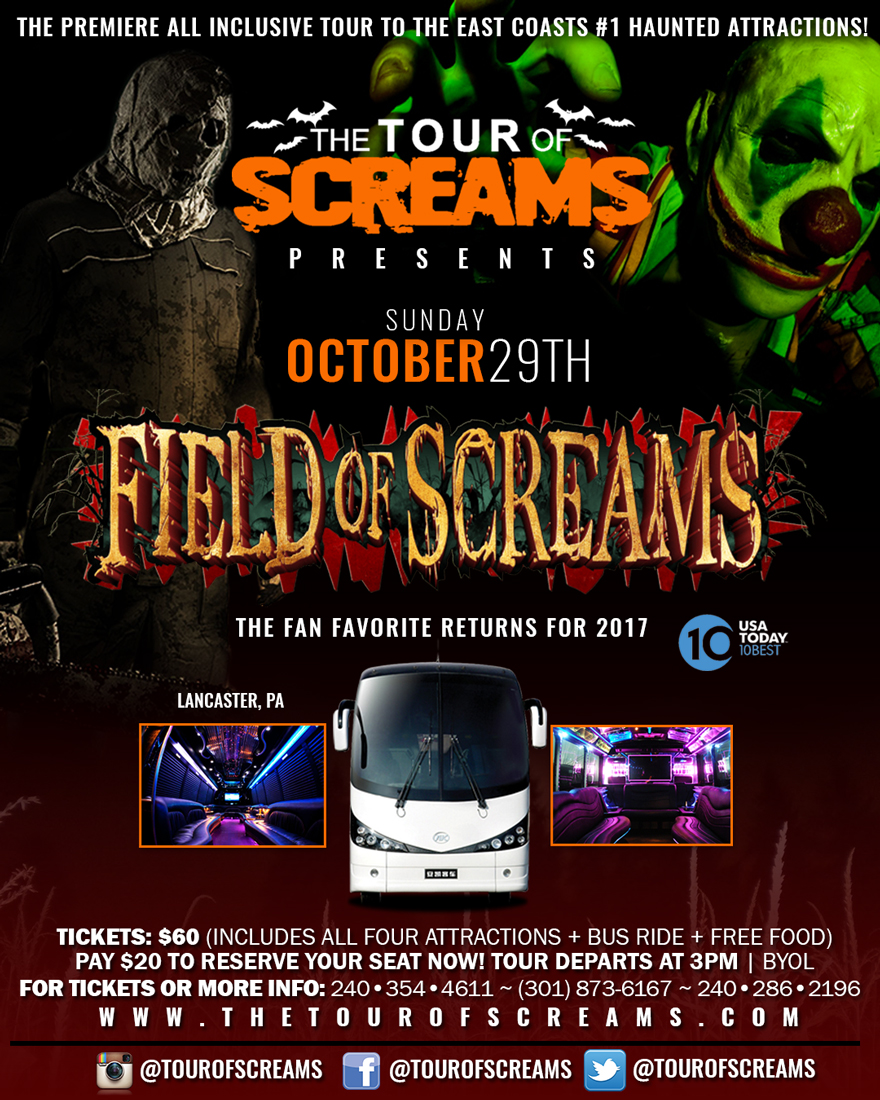 TheTourOfScreams 2017 Tickets Multiple Dates