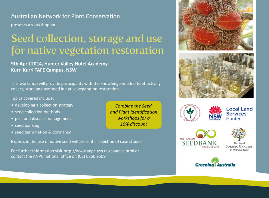 ANPC Seed Use workshop flyer