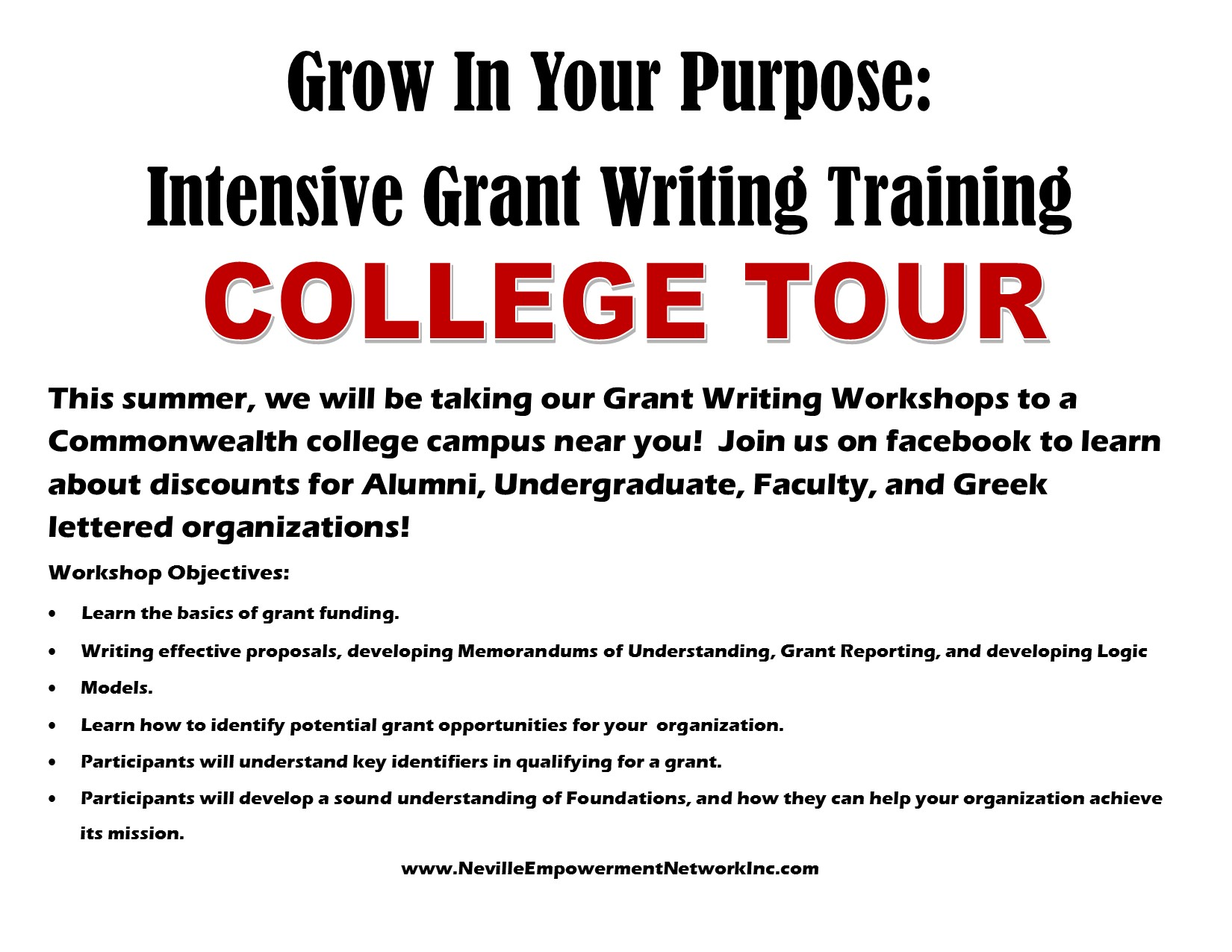 training for grant writing