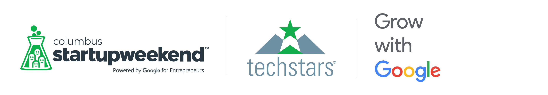 Grow with Google Techstars Columbus Startup Weekend Logo