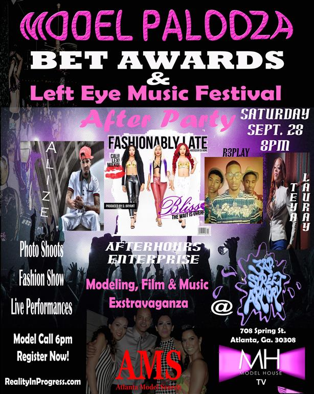 Flyer for BET & Left Eye Music Fest After PArty