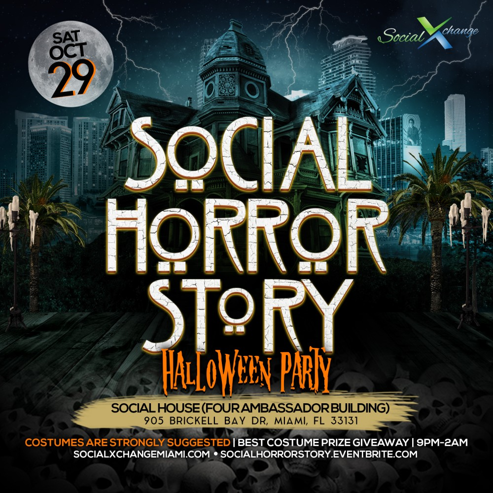 The Social Horror Story (Halloween Party) Tickets, Sat, Oct 29 ...