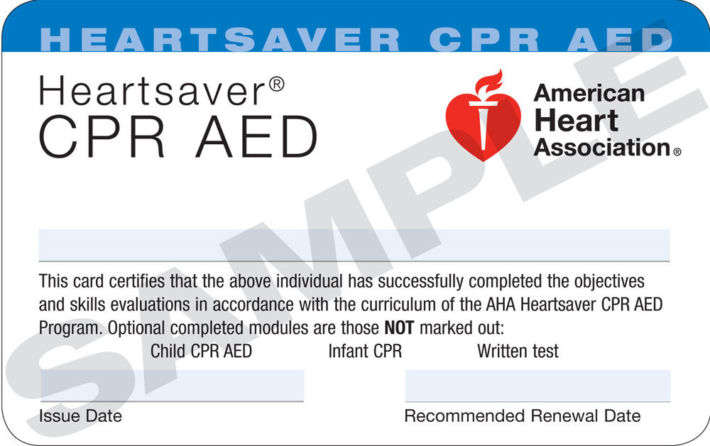 CPR and AED Card