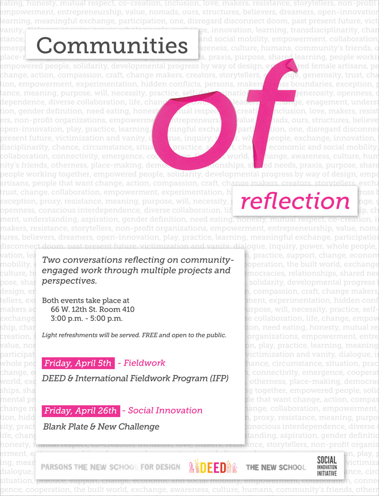 Poster for Communities of (Reflection) events