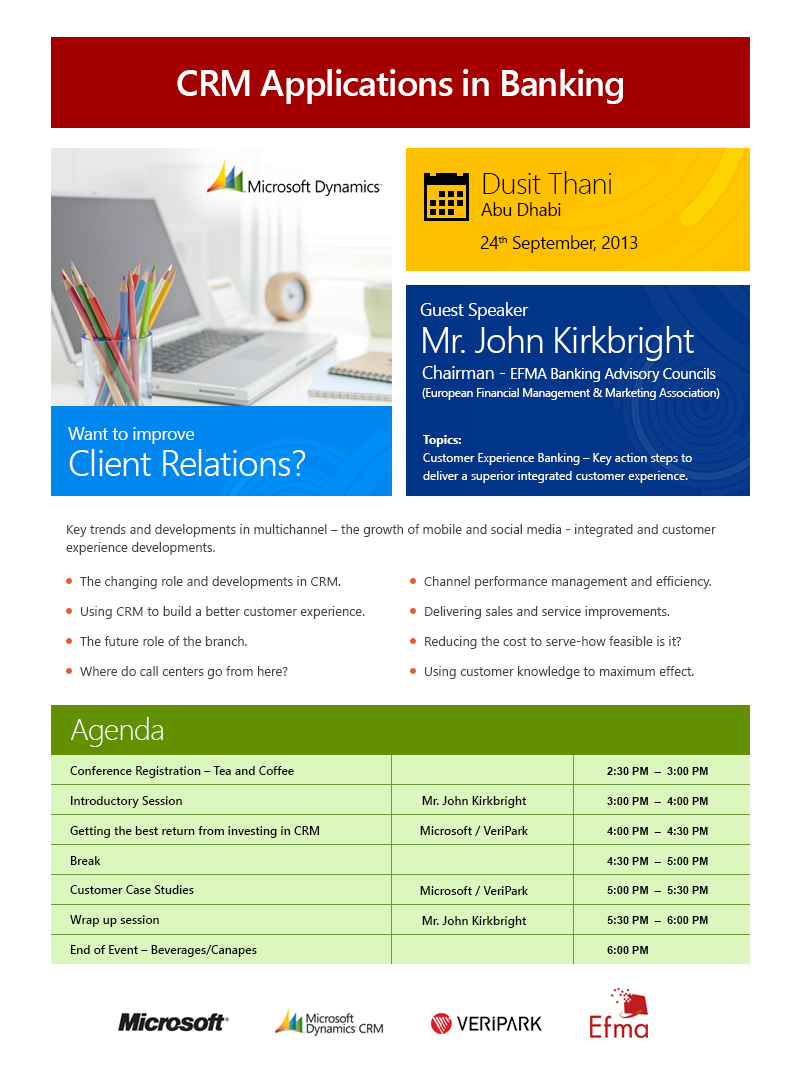 CRM Banking Applications Event - Veripark & Microsoft