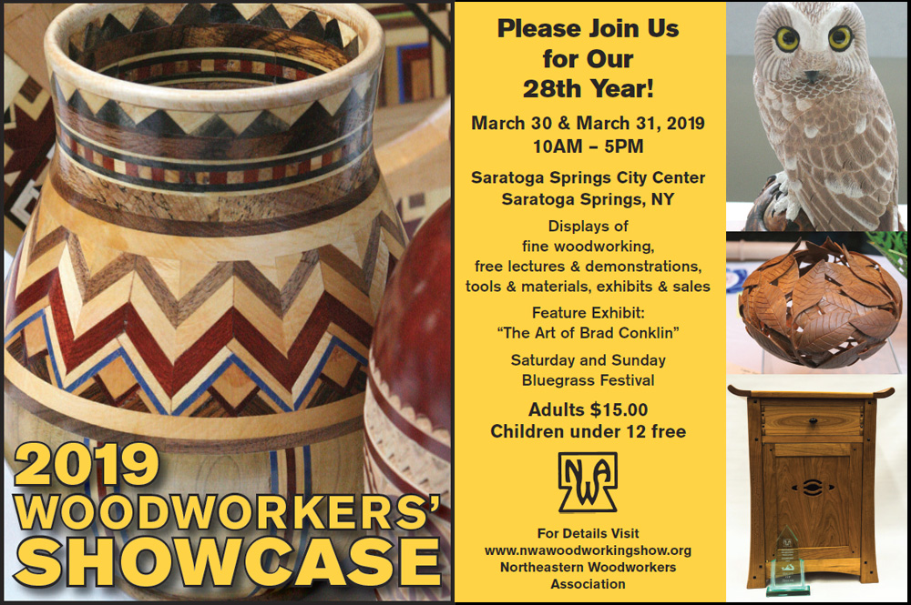 2019 Showcase Nwa S Annual Fine Woodworking Show Tickets Sat Mar