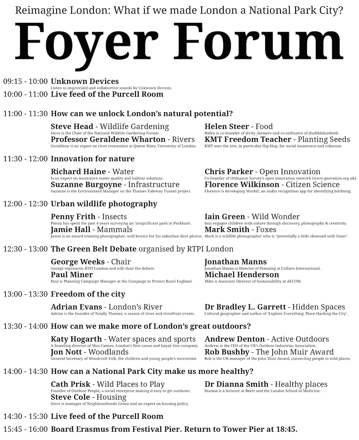 Foyer Forum
