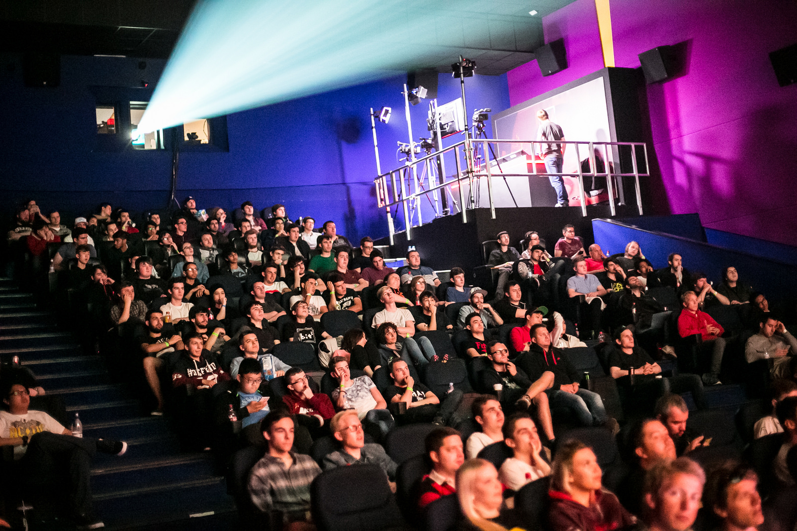 The crowd at the Gfinity Arena