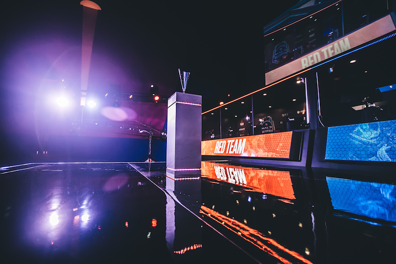 The new stage at the Gfinity Arena