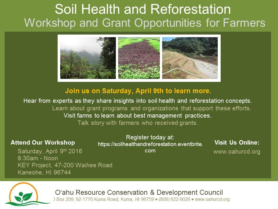 Soil Health and Reforestation Workshop
