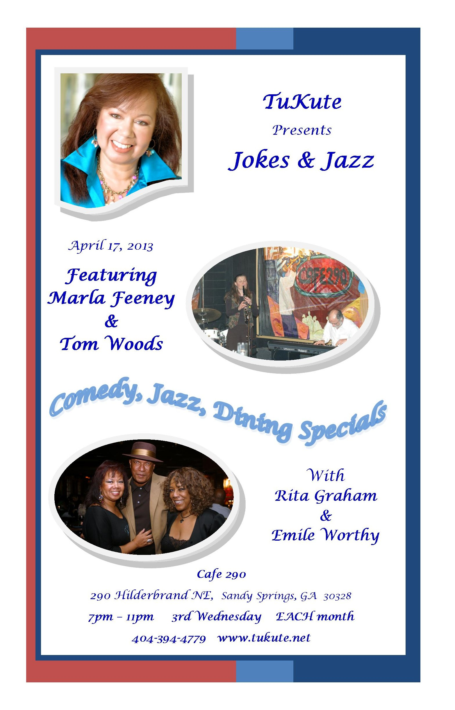 Jokes & Jazz in April