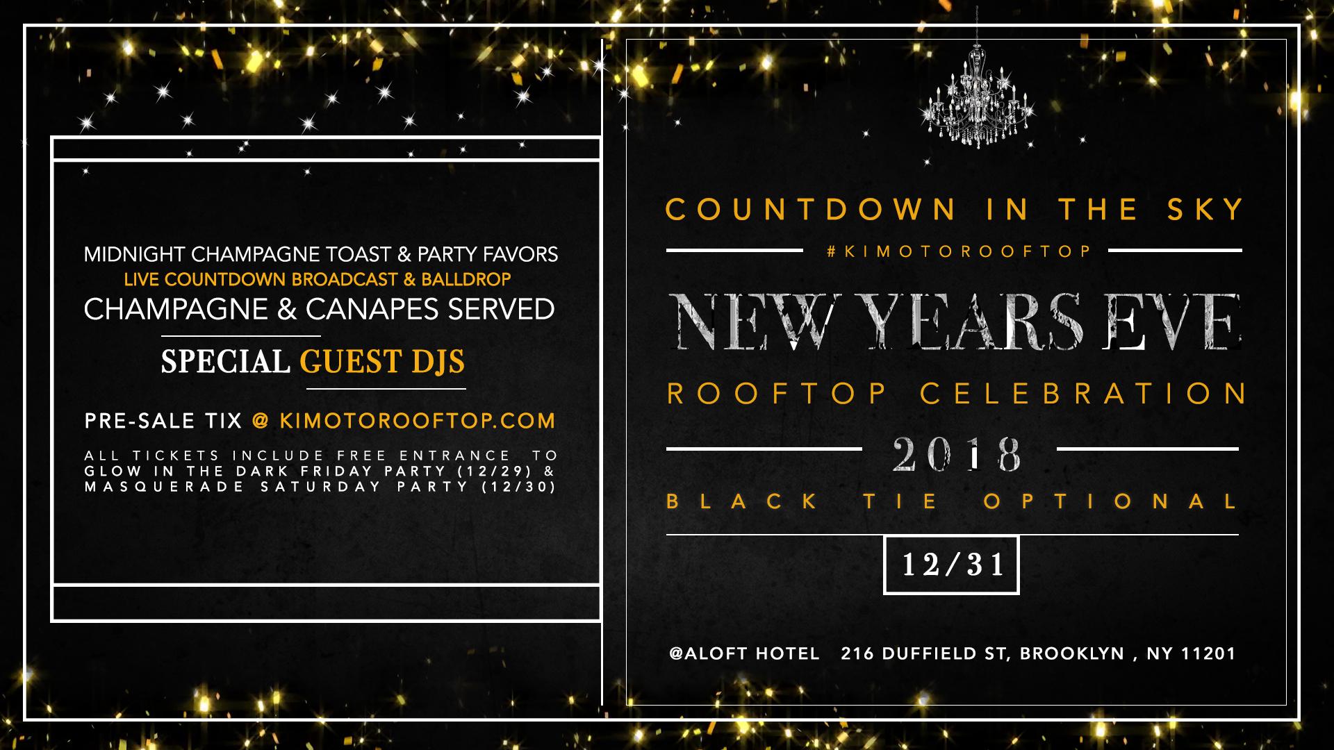 Countdown in the Sky - Aloft & Sheraton Hotel Brooklyn