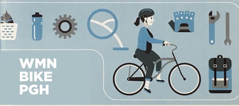 bike map woman biking wrench