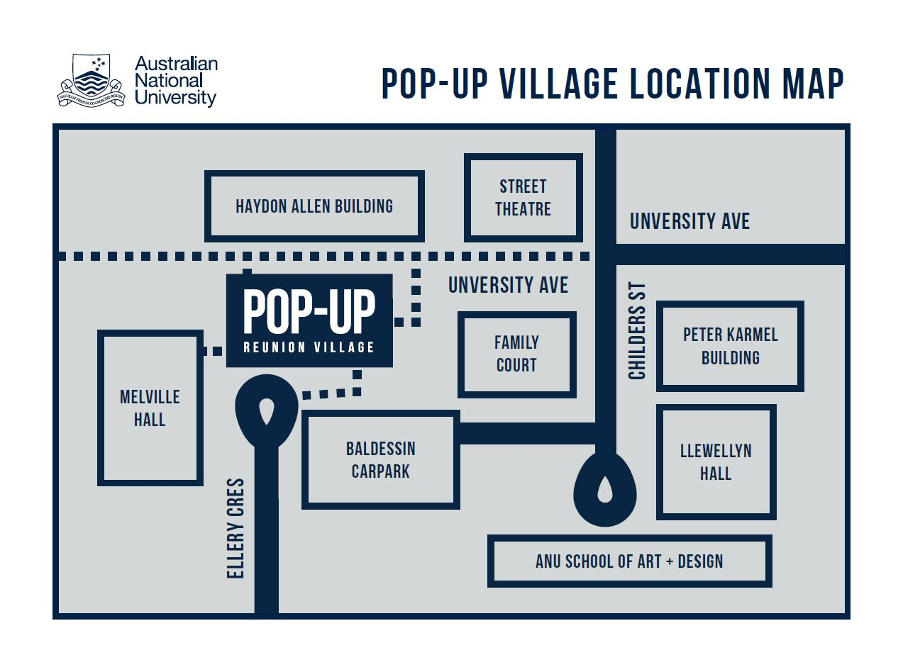 ANU Pop Up Club map