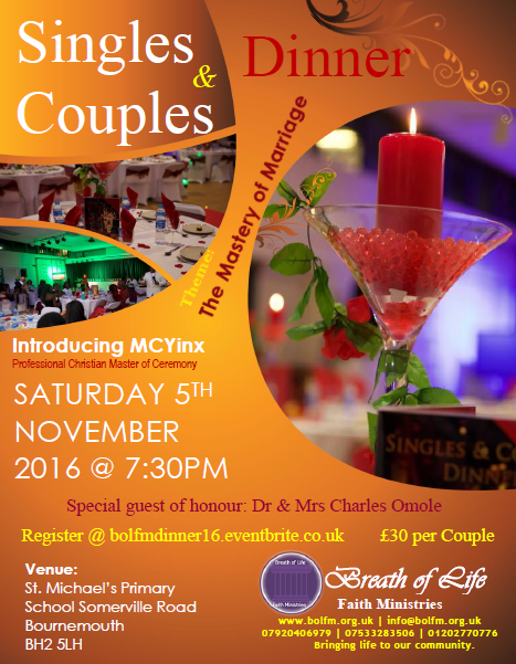 Singles and Couples Dinner 2016