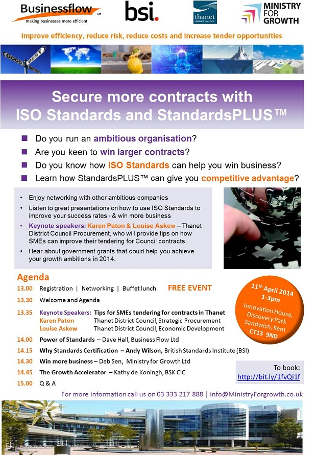 Win contracts through standards