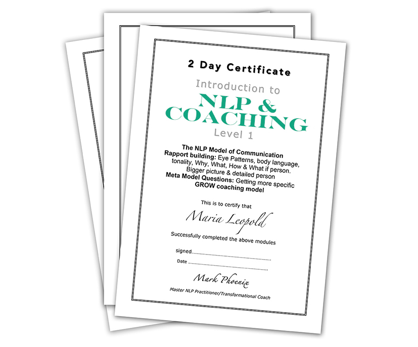 Level 1 coaching and NLP