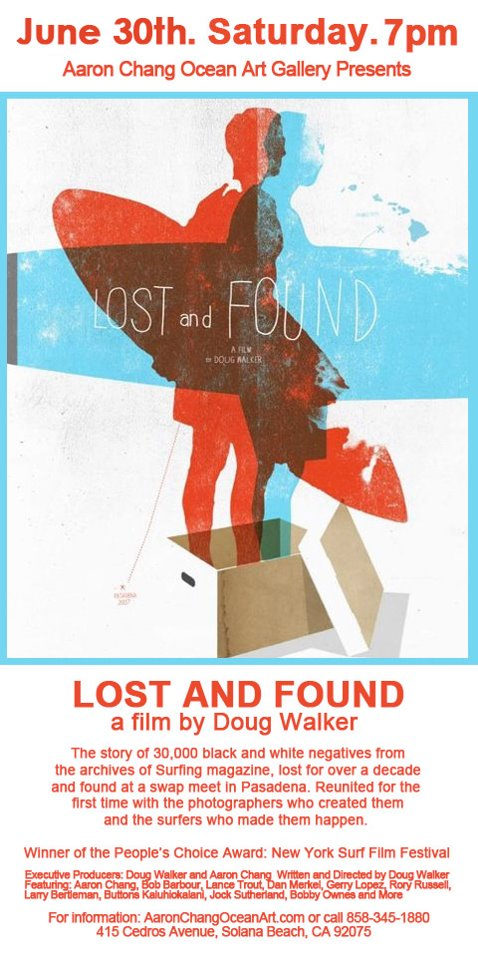 Lost and Found Premier at Aaron Chang Ocean Art Gallery In Solana Beach on June 30 2012