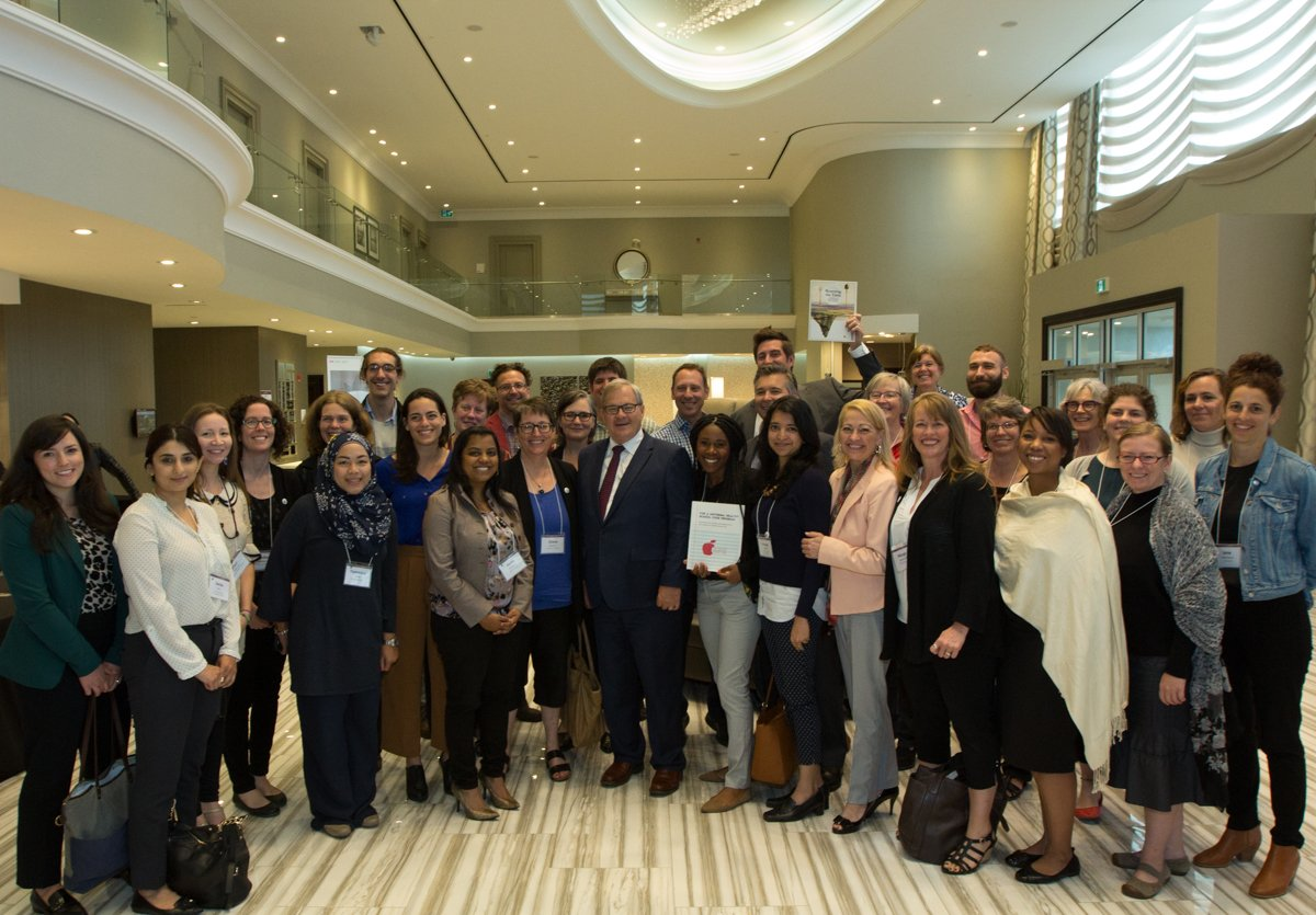 Group photo of Food Secure Canada partners with Minister McCaulay