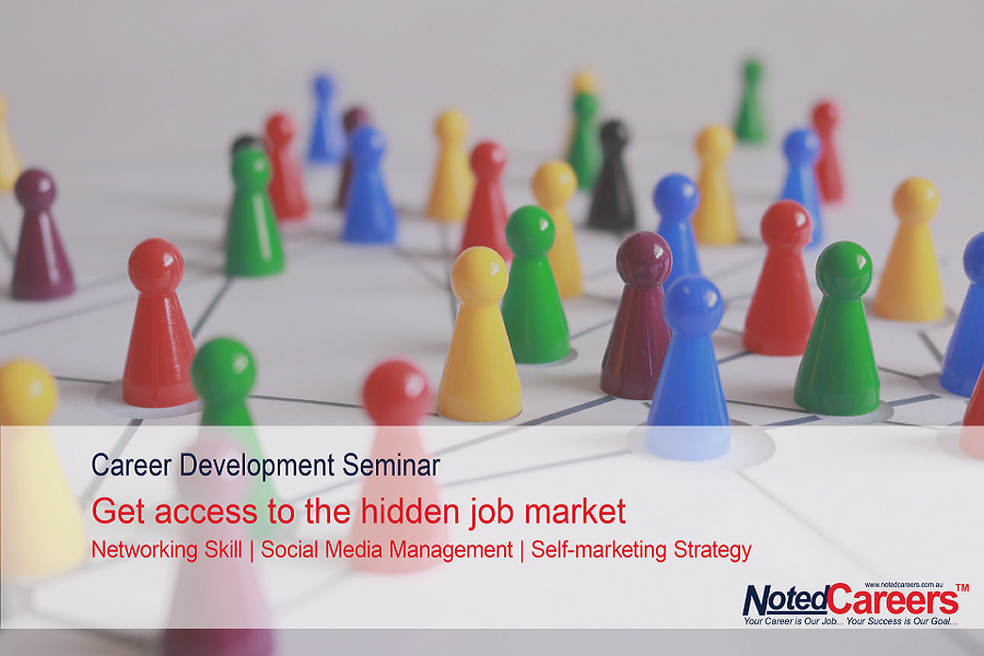 Get access to the hidden job market – Networking Skills | Social Media Management | Self-marketing Strategy