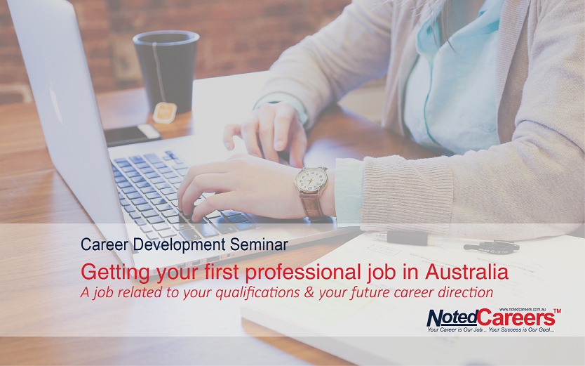 Getting your first professional job in Australia