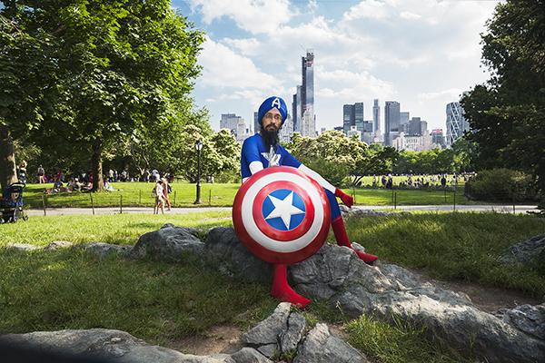 2019 keynote speaker, Vishavjit Singh in Central Park