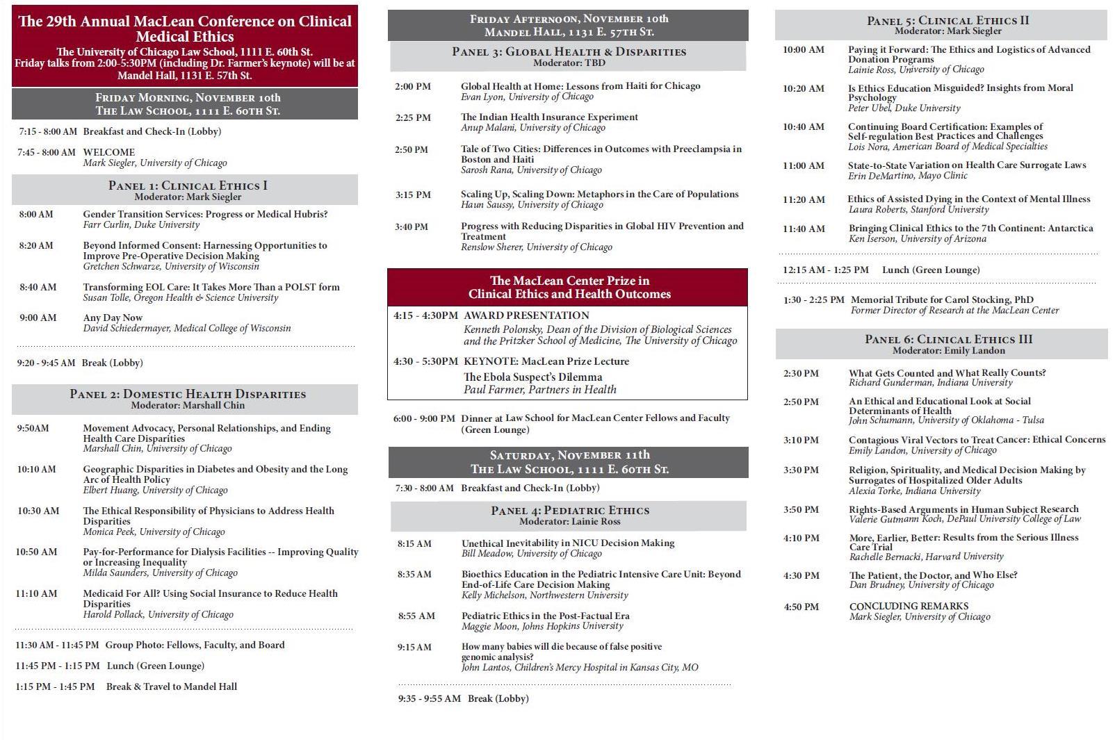 MacLean Conference Brochure