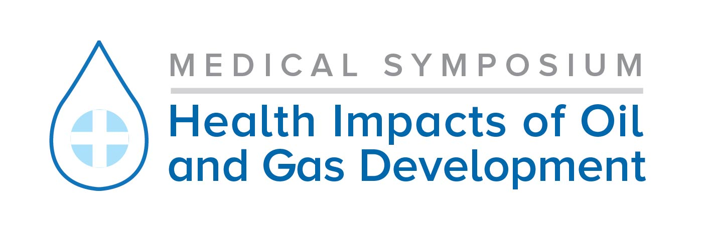 logo for hte Medical Symposium: Health Impacts of Oil and Gas Development