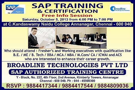 Authorised SAP Training at Chennai – SAP EDUCATION PARTNER